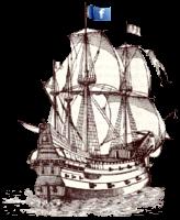 Spanish Galleon at sea...